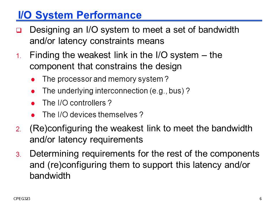 I/O System Performance