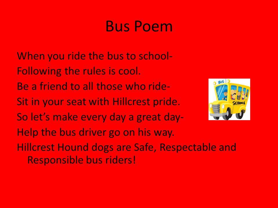 Bus Poem