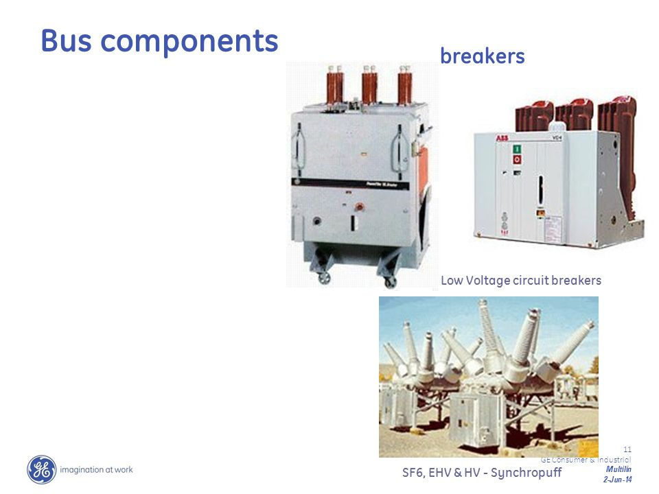 Bus components breakers Low Voltage circuit breakers