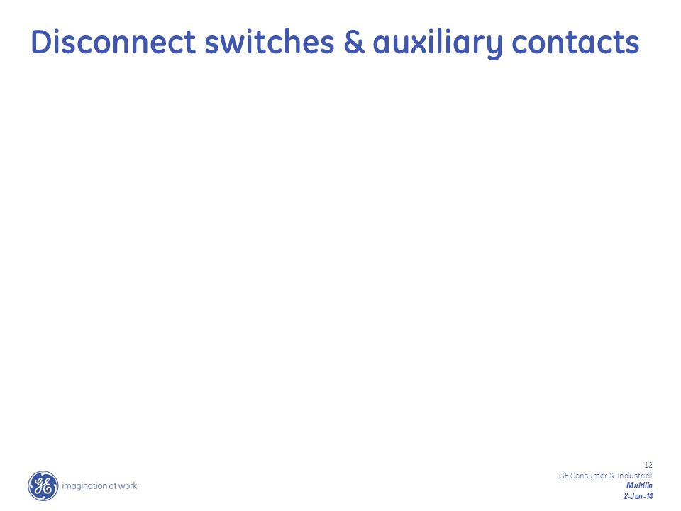 Disconnect switches & auxiliary contacts