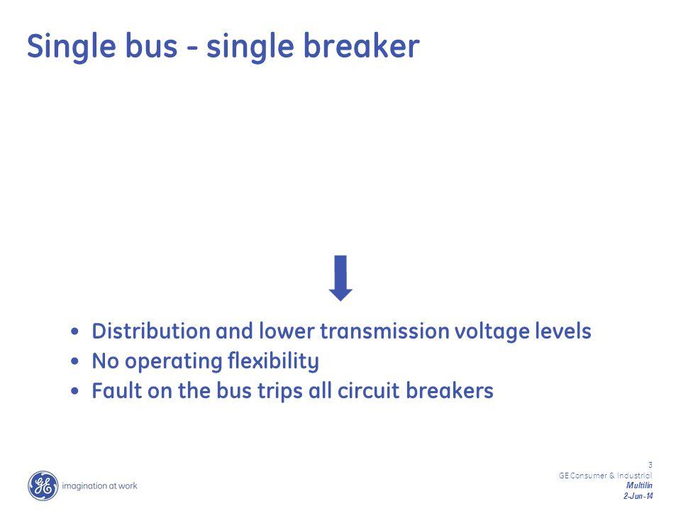 Single bus - single breaker
