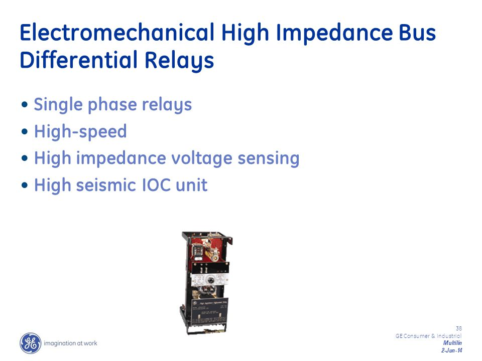 Electromechanical High Impedance Bus Differential Relays