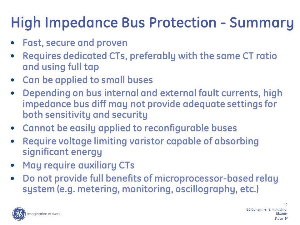 High Impedance Bus Protection - Summary