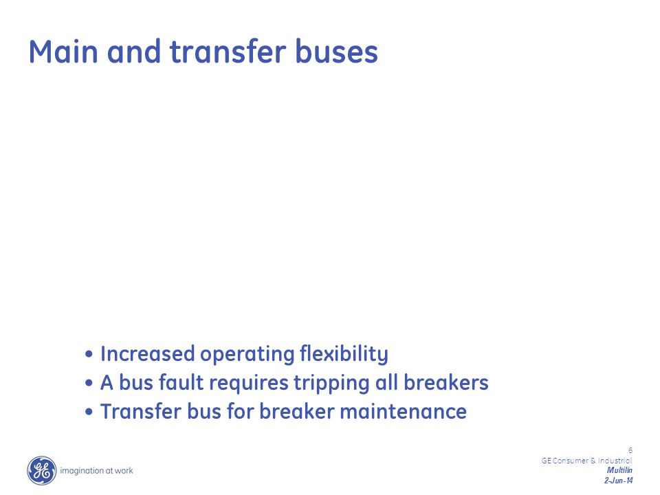 Main and transfer buses