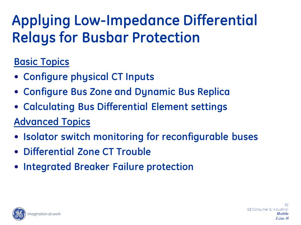 Applying Low-Impedance Differential Relays for Busbar Protection
