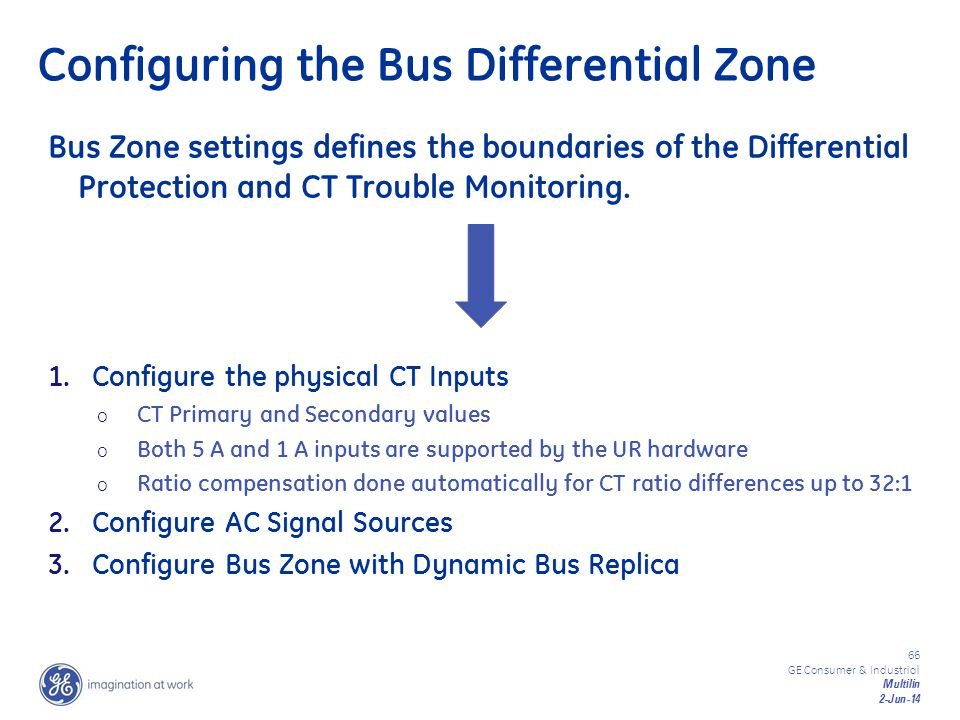 Configuring the Bus Differential Zone