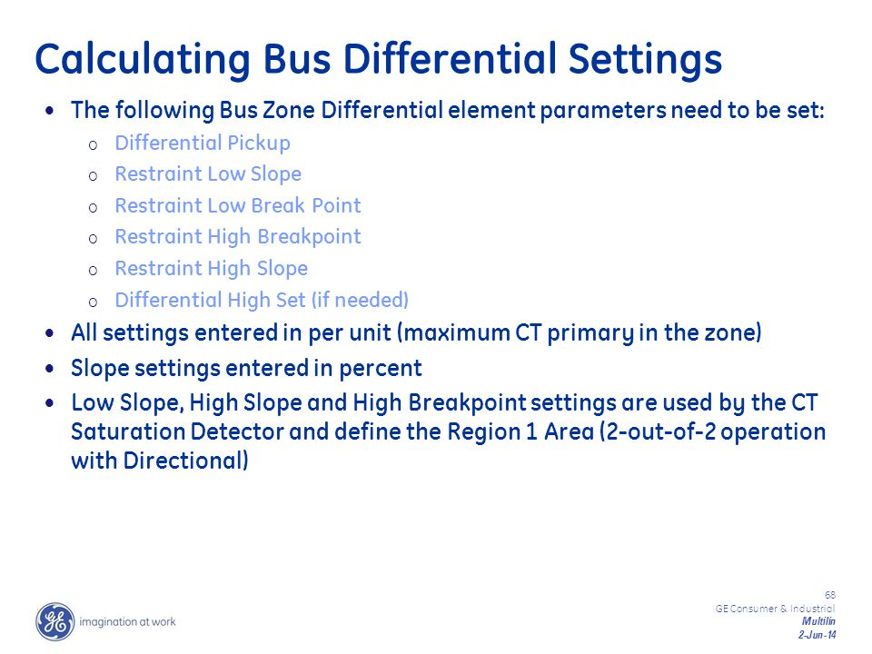 Calculating Bus Differential Settings