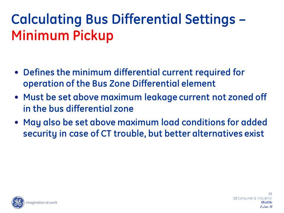 Calculating Bus Differential Settings – Minimum Pickup