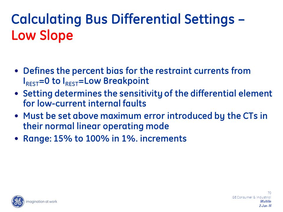 Calculating Bus Differential Settings – Low Slope