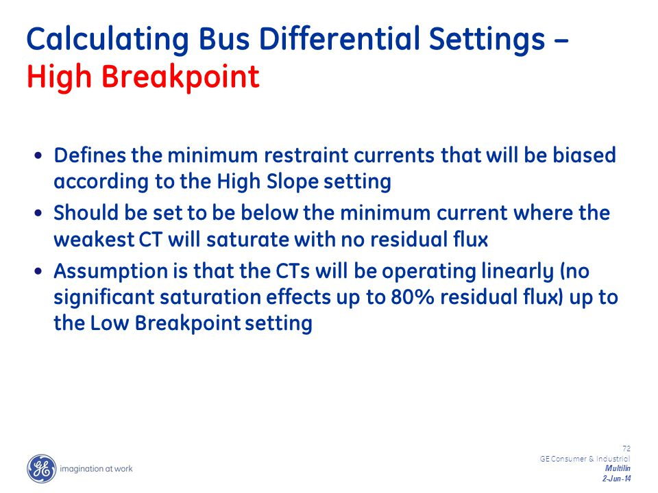 Calculating Bus Differential Settings – High Breakpoint