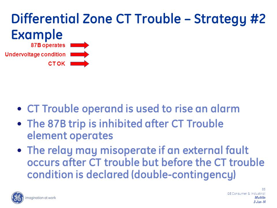 Differential Zone CT Trouble – Strategy #2 Example