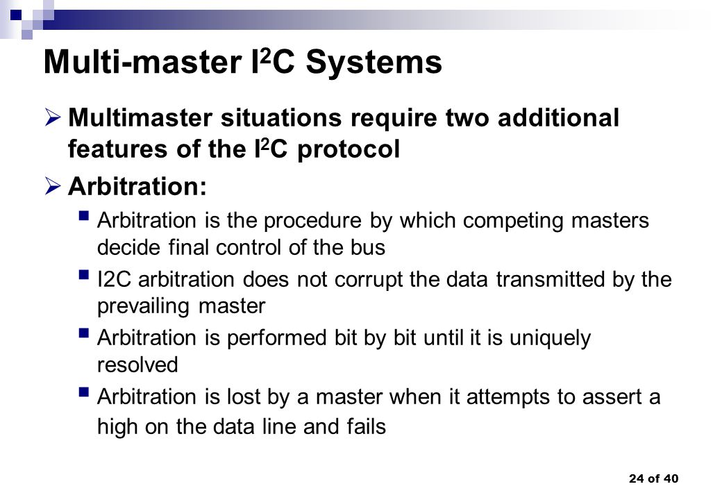 Multi-master I2C Systems