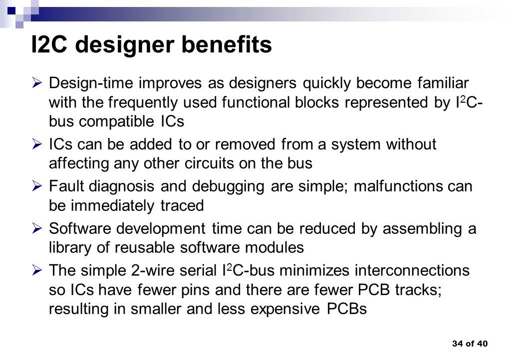 I2C designer benefits