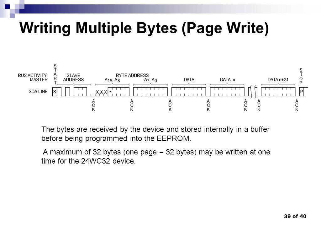 Writing Multiple Bytes (Page Write)