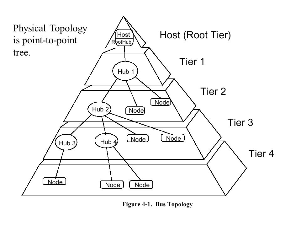 Physical Topology is point-to-point tree.