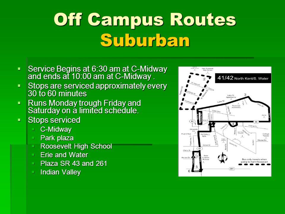 Off Campus Routes Suburban