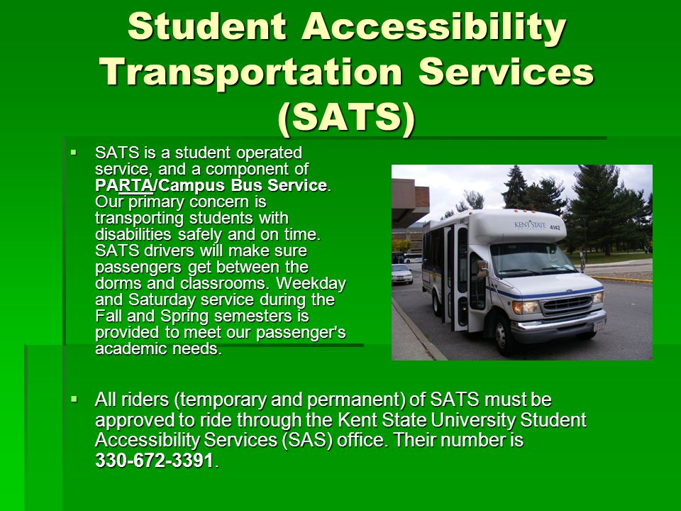 Student Accessibility Transportation Services (SATS)