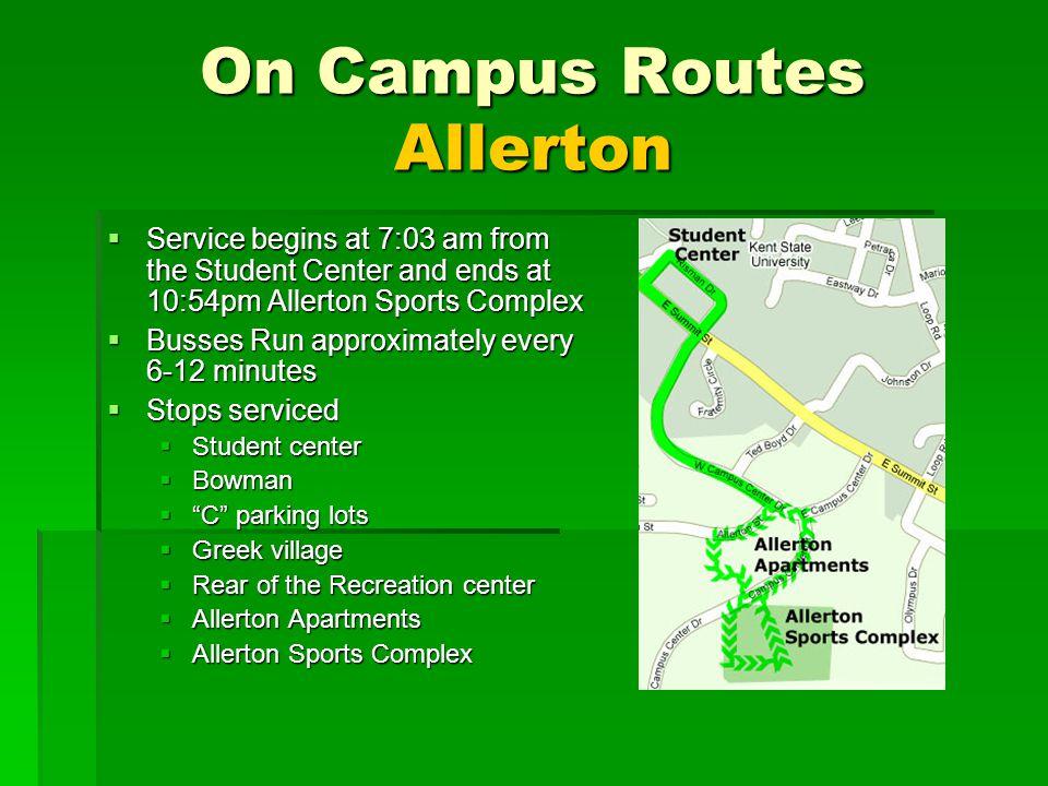 On Campus Routes Allerton