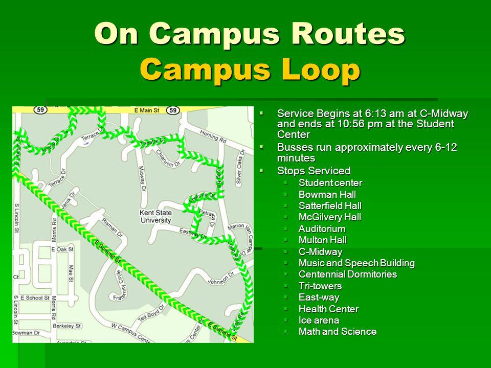 On Campus Routes Campus Loop