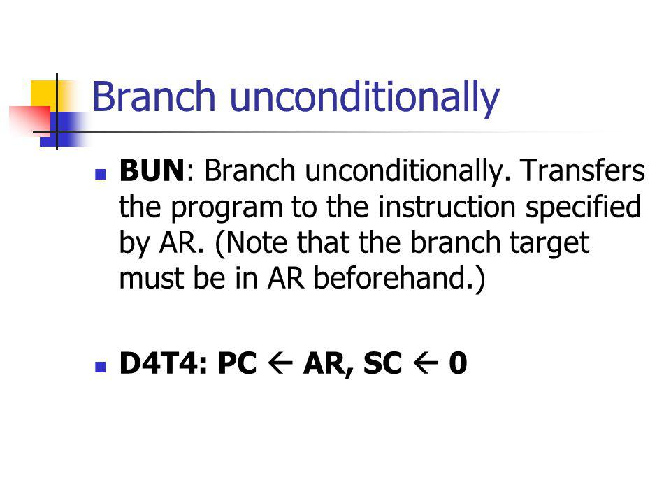 Branch unconditionally