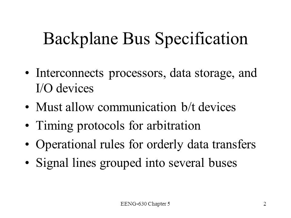Backplane Bus Specification