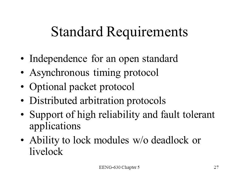 Standard Requirements