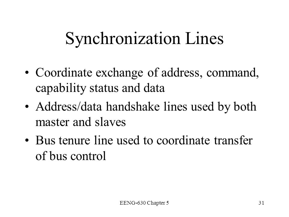 Synchronization Lines