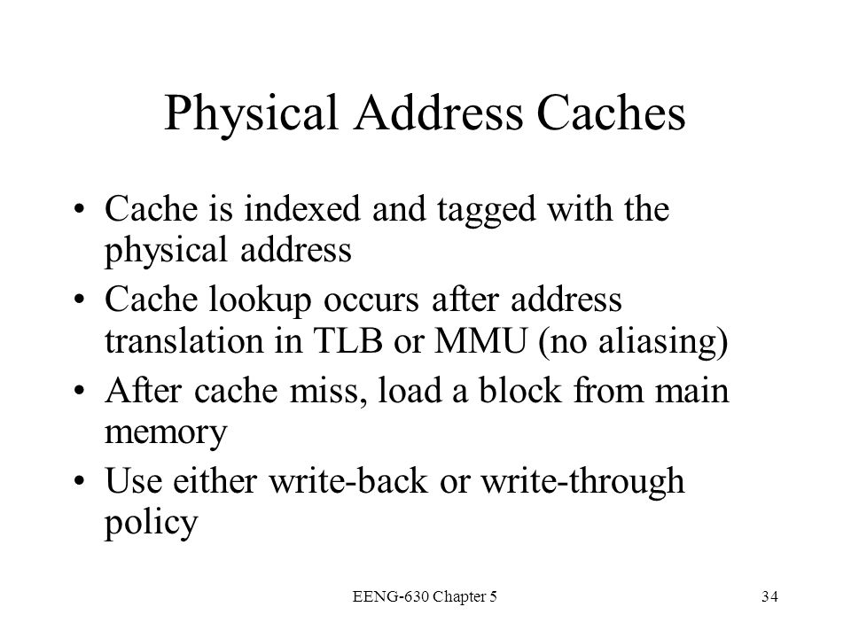 Physical Address Caches