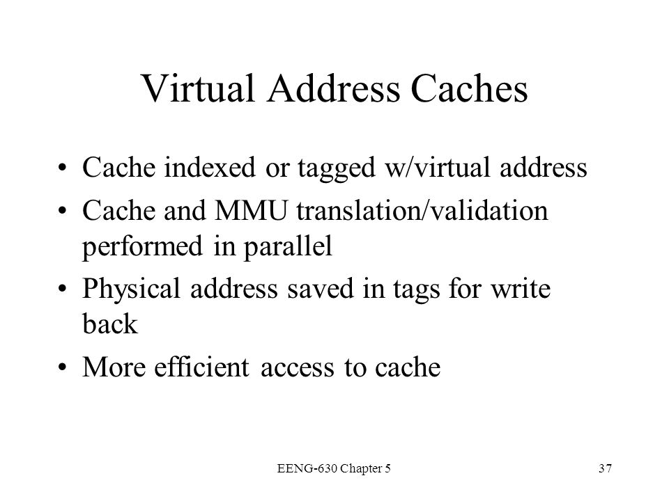 Virtual Address Caches