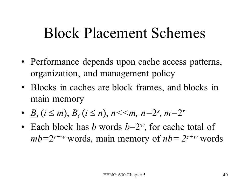 Block Placement Schemes