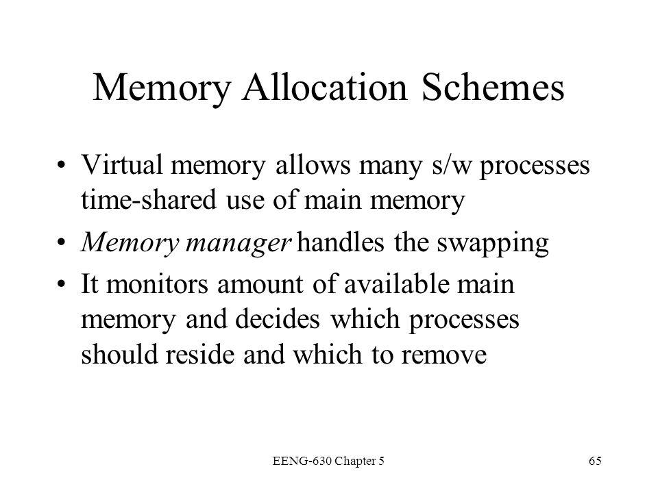 Memory Allocation Schemes