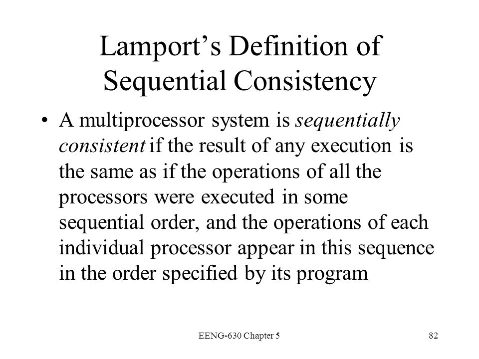 Lamport's Definition of Sequential Consistency