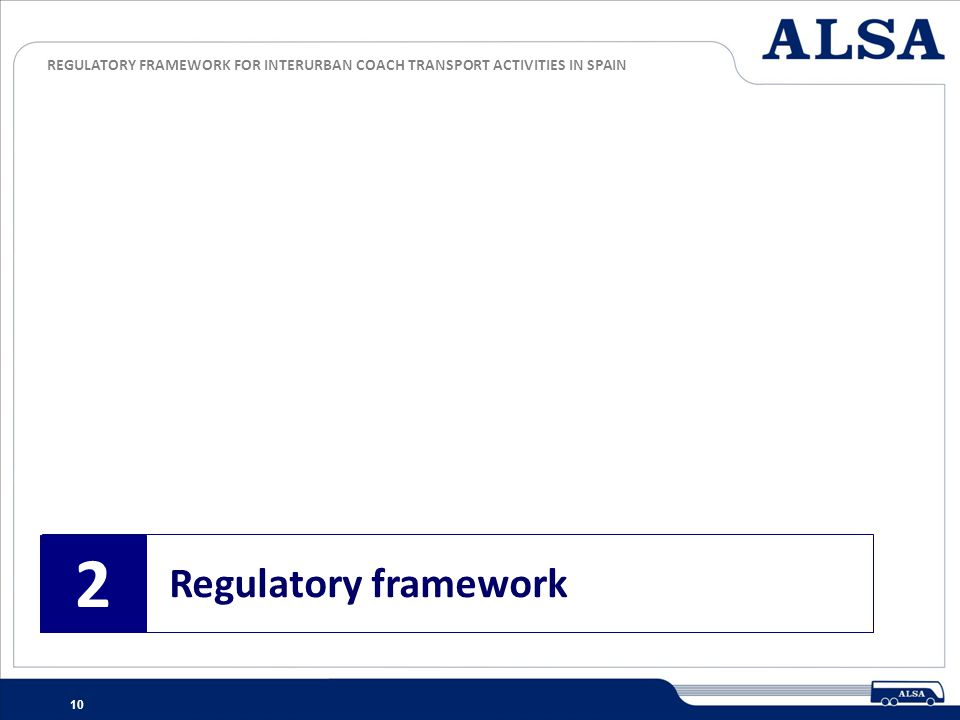 2 Regulatory framework