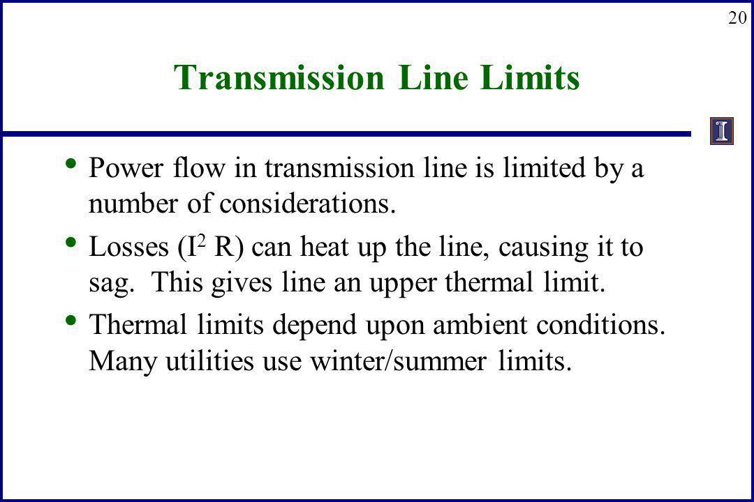 Transmission Line Limits