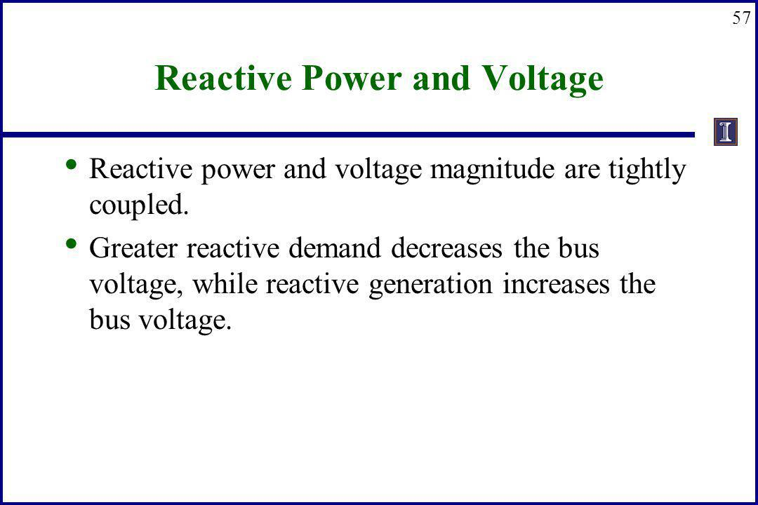 Reactive Power and Voltage