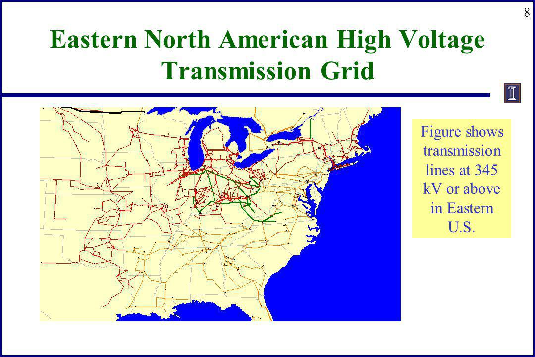Eastern North American High Voltage Transmission Grid