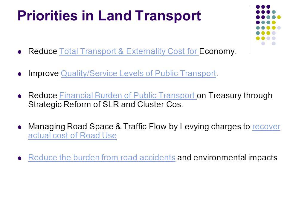 Priorities in Land Transport