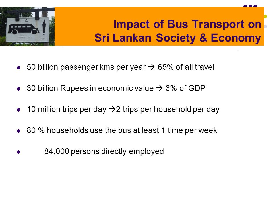 Impact of Bus Transport on Sri Lankan Society & Economy