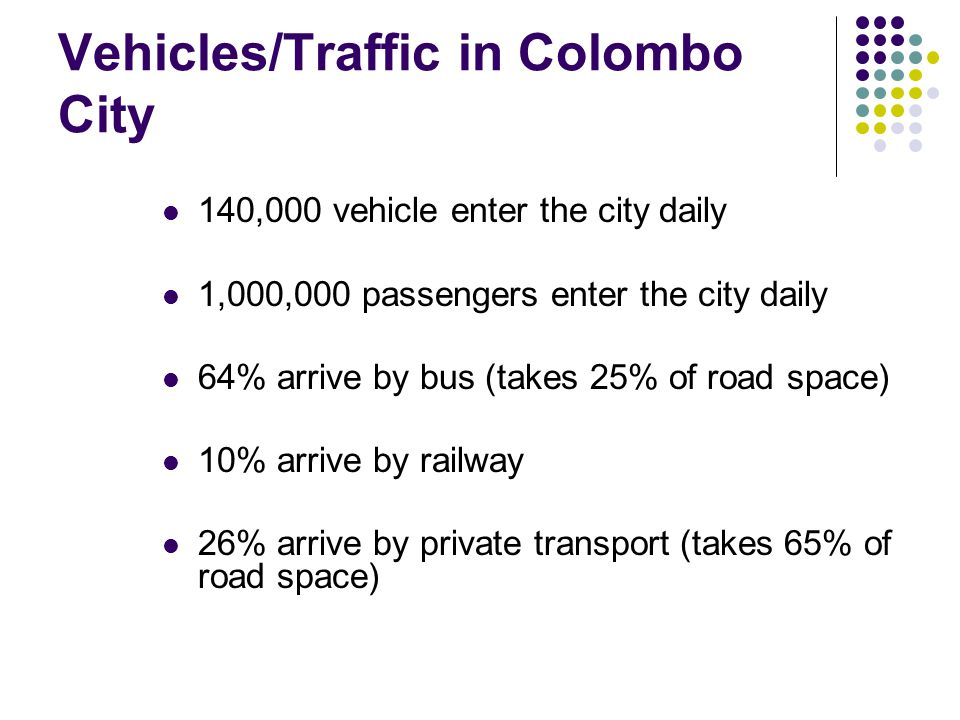 Vehicles/Traffic in Colombo City