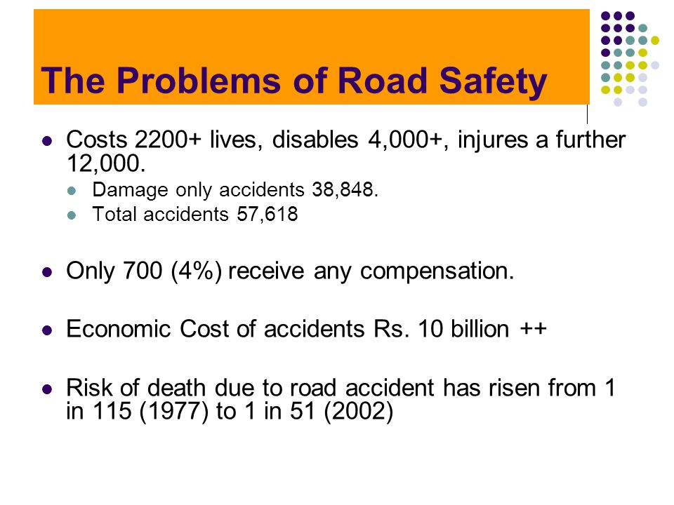 The Problems of Road Safety