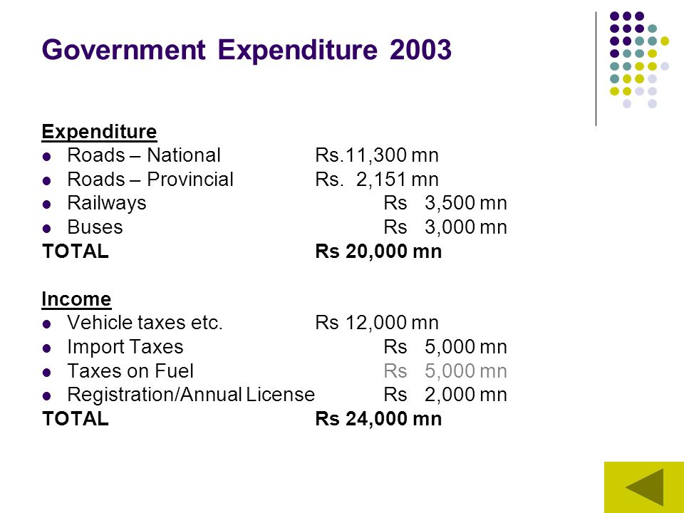 Government Expenditure 2003