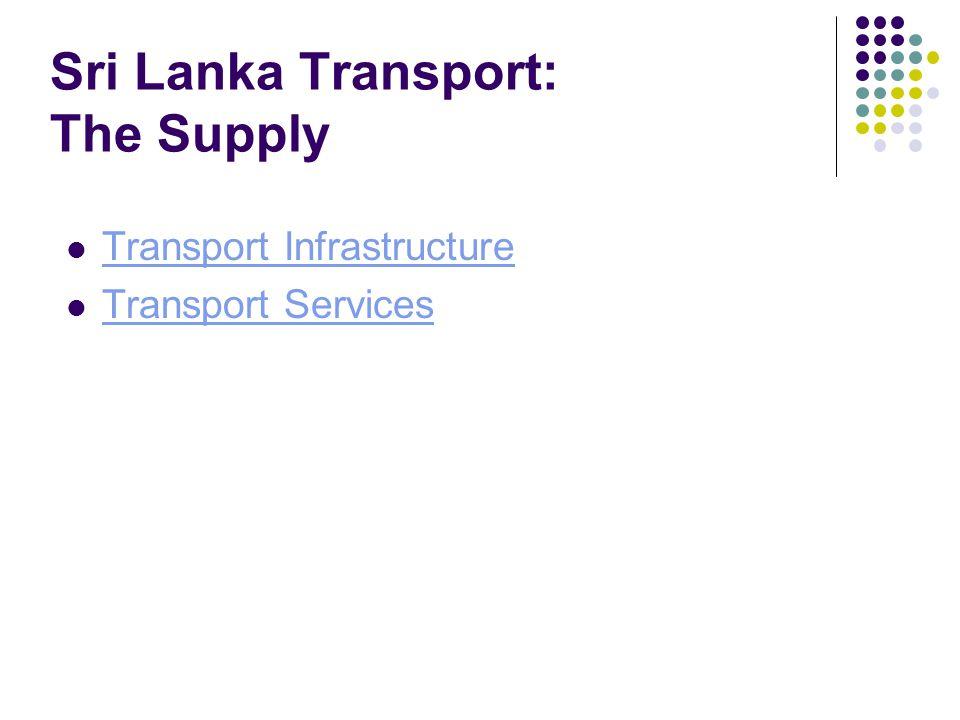 Sri Lanka Transport: The Supply