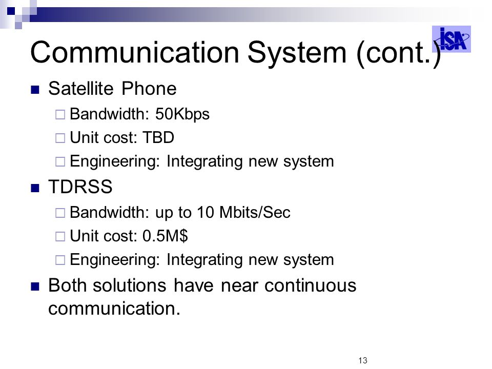 Communication System (cont.)