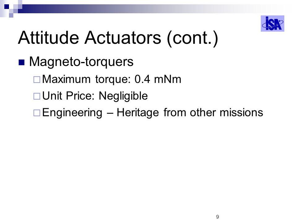 Attitude Actuators (cont.)