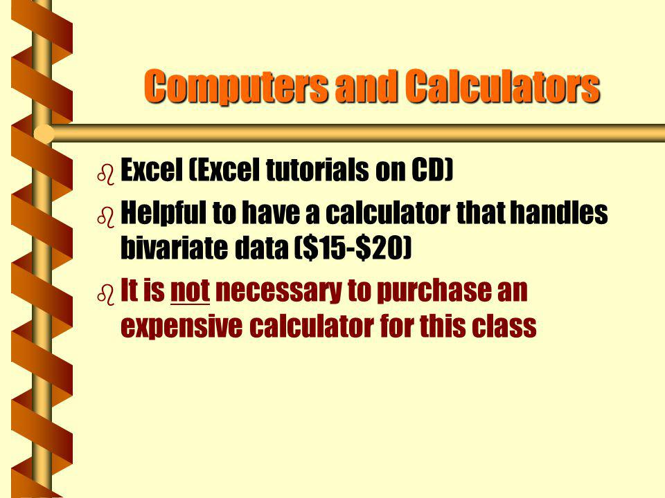Computers and Calculators