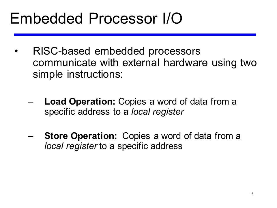 Embedded Processor I/O