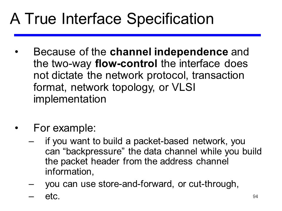 A True Interface Specification