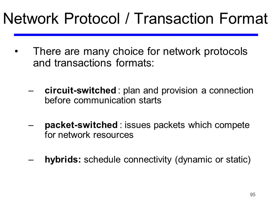 Network Protocol / Transaction Format