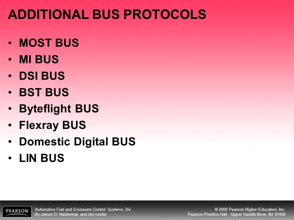 ADDITIONAL BUS PROTOCOLS