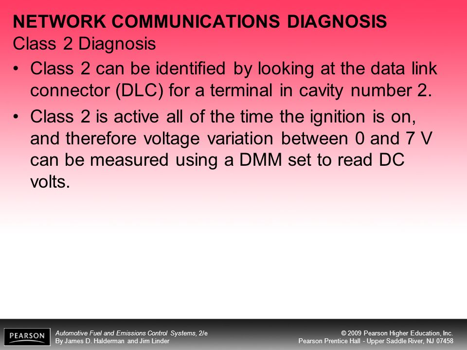 NETWORK COMMUNICATIONS DIAGNOSIS Class 2 Diagnosis